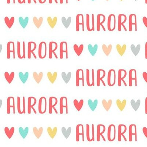 Girls Personalized Name // Sweet Hearts