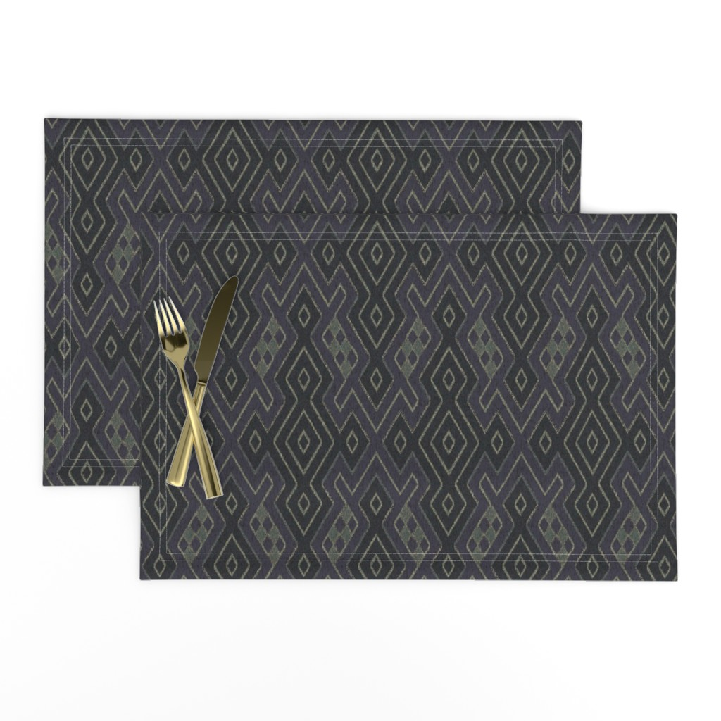 Lamona Cloth Placemats featuring Sarong - moonlight by ormolu