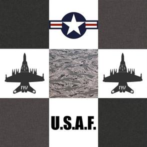 "6"" Military Planes Faux Quilt"