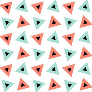 07233573 : triangle 4g : coral mint
