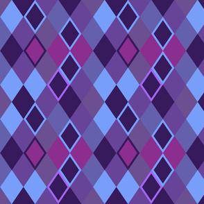 Harlequin pants purple tint