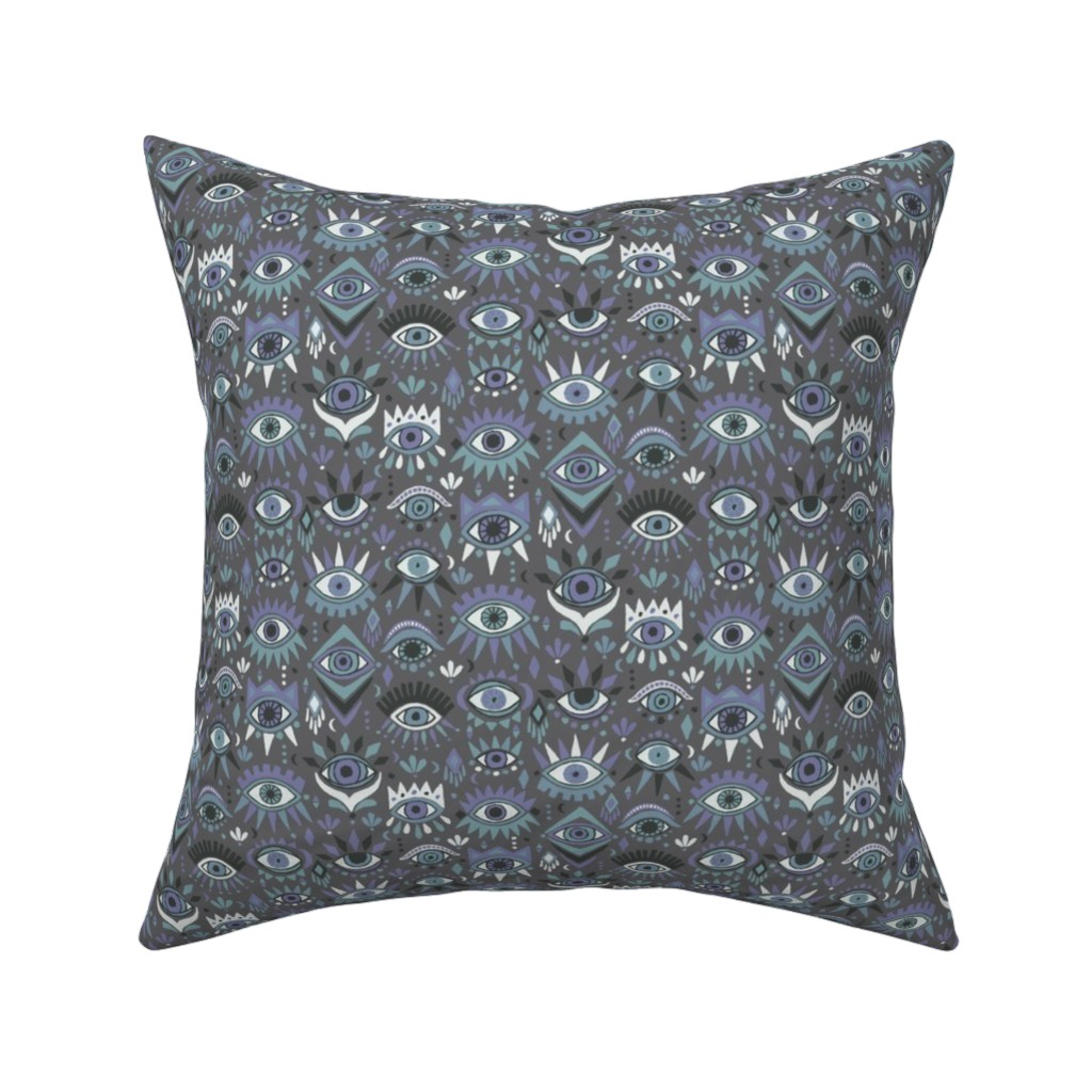 Catalan Throw Pillow featuring Mystic Eyes by leiah