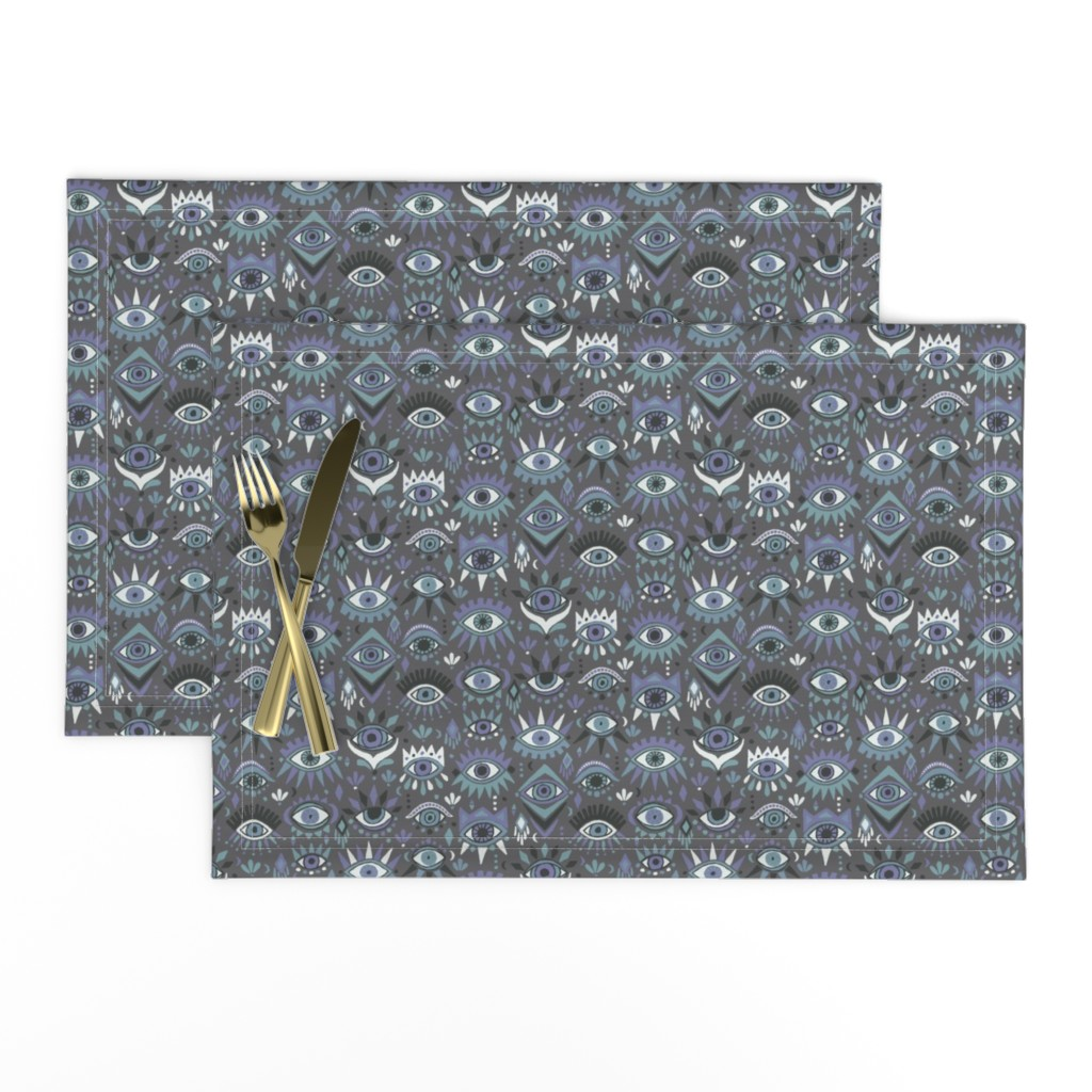 Lamona Cloth Placemats featuring Mystic Eyes by leiah