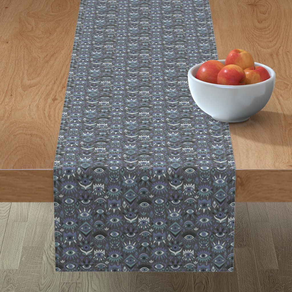 Minorca Table Runner featuring Mystic Eyes by leiah