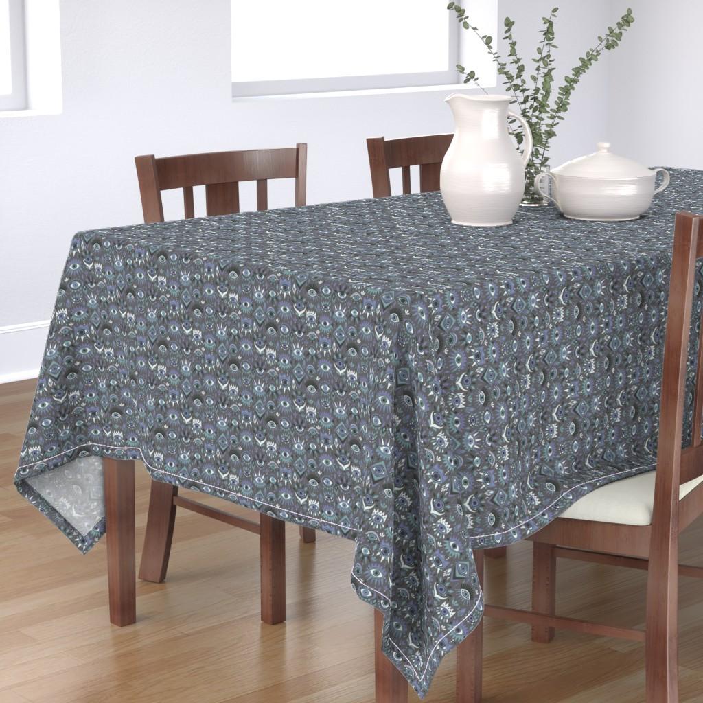 Bantam Rectangular Tablecloth featuring Mystic Eyes by leiah