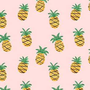 Tropical Pineapples/ Modern Fun pineapples/ Pink and green pineapples