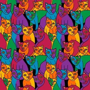 Rainbow Cubist Cats 2