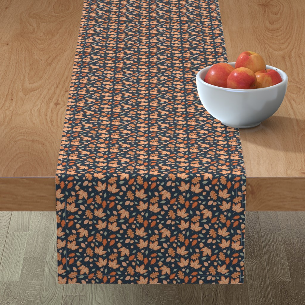Minorca Table Runner featuring Autumn Sky (Tiny) by dualsunsdesign