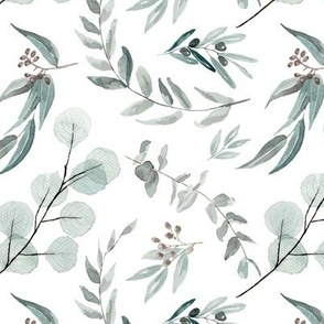 Native Eucalyptus Leaves || Edition 1 || Fabric Wallpaper