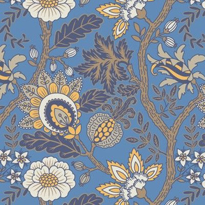 Blue and Gold Indienne