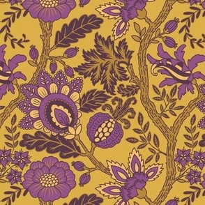 Purple and Gold Indienne