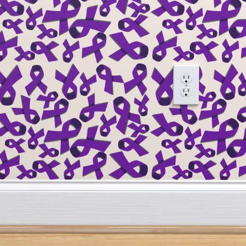 Purple Ribbon Awareness - Spoonflower
