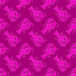 small lobster pink on pink