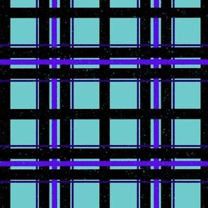 Splatter Plaid - Purple & Teal