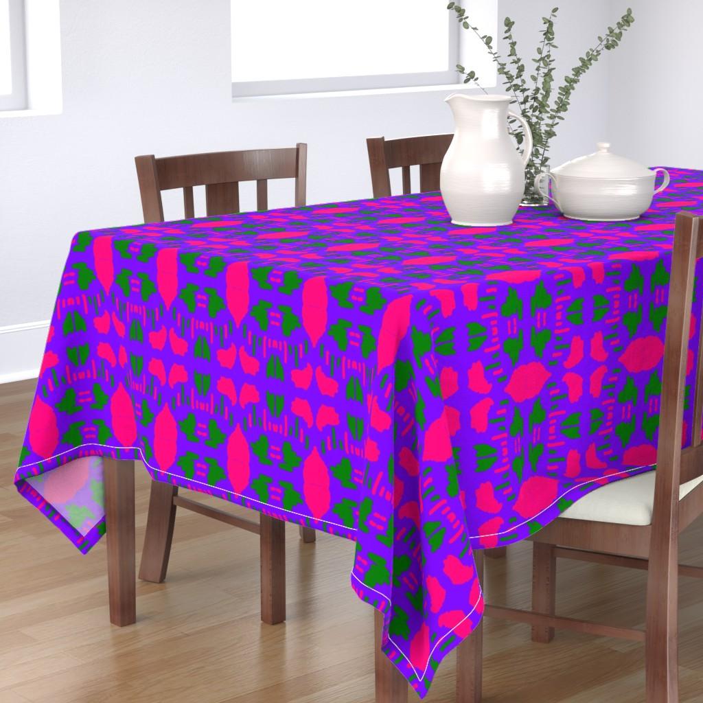 Bantam Rectangular Tablecloth featuring Funky Punky Furaha 18 by tabasamu_design