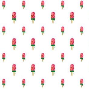 Watermelon watercolor popsicle (mini)