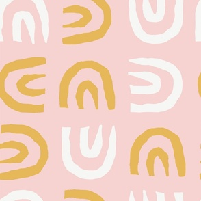 Tribal Arch   Pink + Yellow