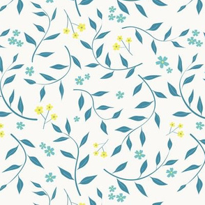 Willow in teal and yellow