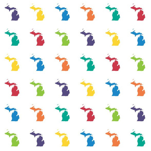 """Michigan silhouette - 3"""" multicolored"""