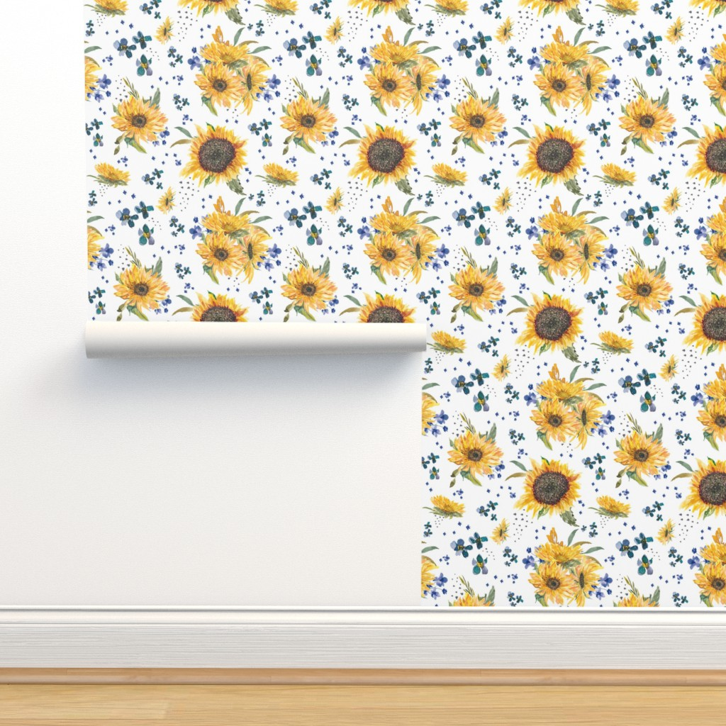 Isobar Durable Wallpaper featuring sunflowers by lil'faye