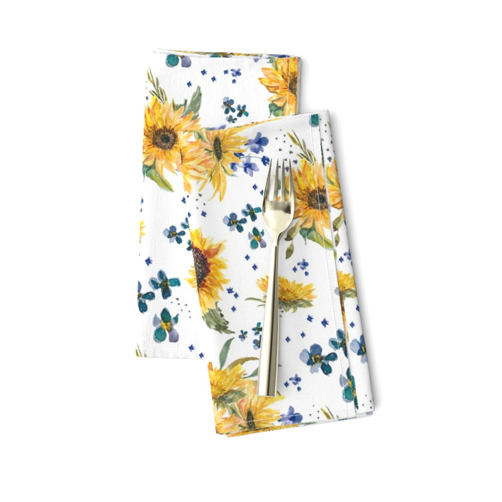 Amarela Dinner Napkins featuring sunflowers by lil'faye
