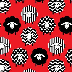 SHEEP SEAMLESS RED