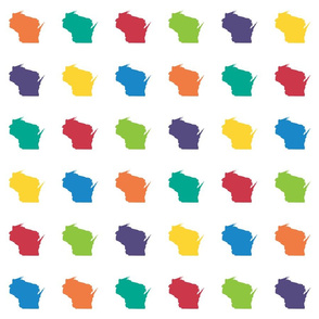 """Wisconsin silhouette - 3"""" multicolored"""