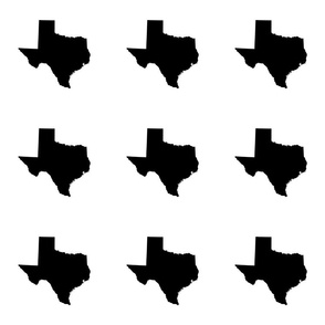 "Texas silhouette - 6"" black and white"