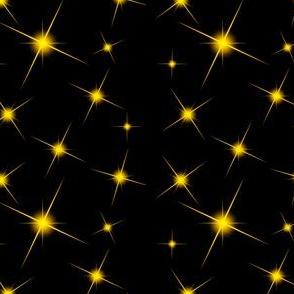 Orangy Yellow Star Bursts