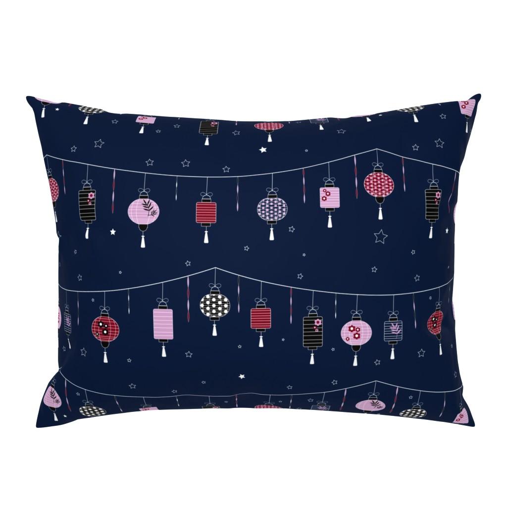 Campine Pillow Sham featuring Lanterns by meredith_watson