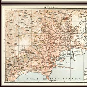 Naples map, Italy small