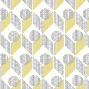 dots on tables-vintage pale yellow