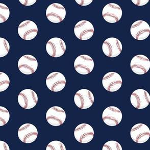 baseballs - dark blue
