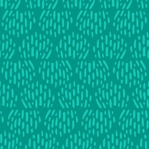 Turquoise Scandi Half Moon Texture Fat Eighth // Bright + Playful Color with Geometric Nature Motifs // Modern Quilting Collection // Small Scale // ZirkusDesign