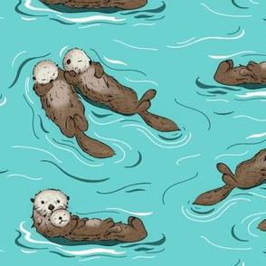 Sea Otters - large scale