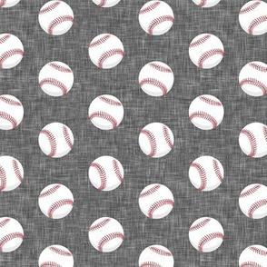 baseballs - grey linen