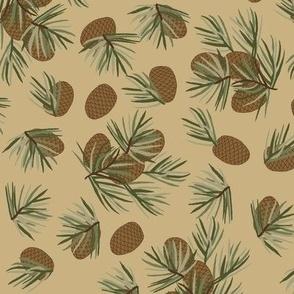Pine cones Tan