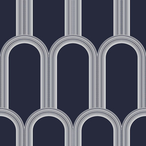 Art Deco Arcades (Maritime Blue)