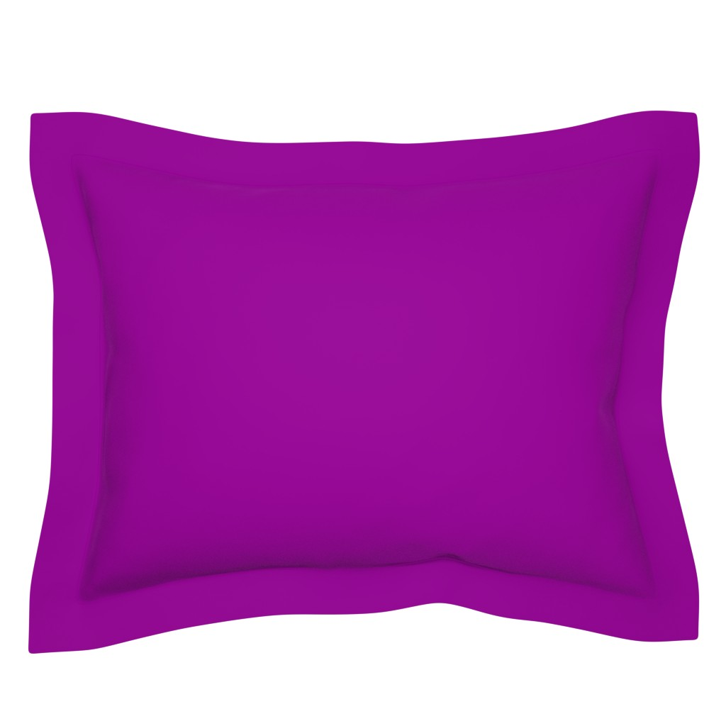 Sebright Pillow Sham featuring solid Karmic purple (990099) by weavingmajor