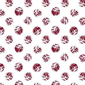 Burgundy polka dot