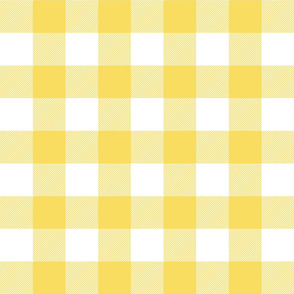 buffalo plaid 2in butter yellow and white
