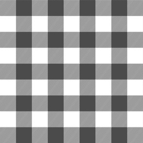 buffalo plaid 2in dark grey and white