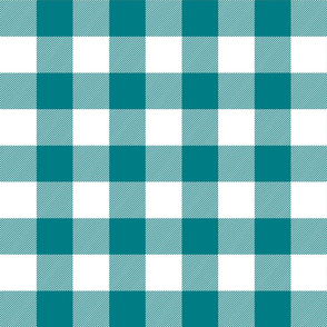 buffalo plaid 2in dark teal and white