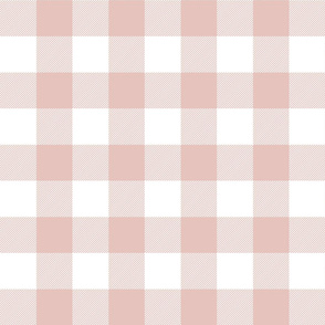 buffalo plaid 2in dusty pink and white