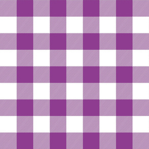 buffalo plaid 2in grape and white