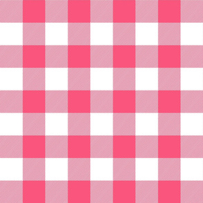 buffalo plaid 2in hot pink and white