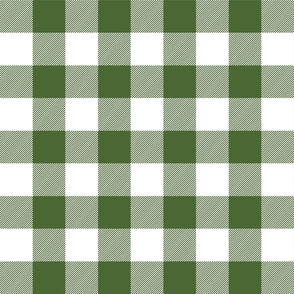 buffalo plaid 2in hunter green and white