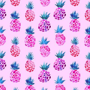 Pink pineapples on pink