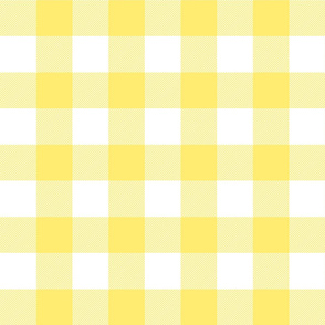 buffalo plaid 2in lemon yellow and white