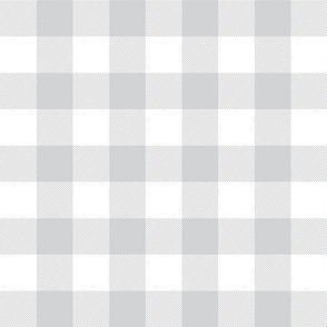 buffalo plaid 2in light grey and white